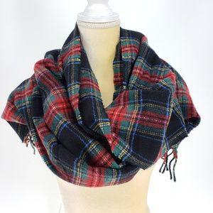 J. CREW   Reversible Wool Blend Tartan Scarf - NWT